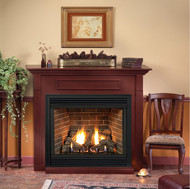 Tahoe Premium 36 Direct Vent Gas Fireplace (Remote Ready) with Hearth and Wall Surround
