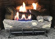 Monessen Mountain Oak Ventless Gas Logs - Manual Control - 18 inch - Natural Gas