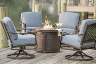 """Parkdale 5 Piece Deep Seating Fire Pit Set with 36"""" Firepit"""