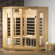 4 Person Deluxe Corner Infrared Sauna - Special Order