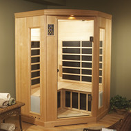 3 Person Deluxe Corner Infrared Sauna - Special Order
