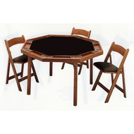 "Palmer 54"" Octagon Folding Poker Table with Four Chairs"