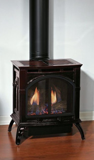 Empire Medium Cast Iron Direct Vent Gas Stove - Remote Ready - Natural Gas